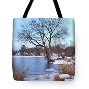 A Peaceful Winter Day Tote Bag
