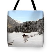 A Peaceful Winterscene Tote Bag
