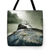 A Peak Of A Mountain Top In The Rocky Tote Bag
