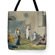 A Persian Harem, From Le Costume Ancien Tote Bag