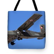 A Pilatus Pc-6 Of The Swiss Air Force Tote Bag