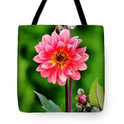 A Pink Flower Tote Bag
