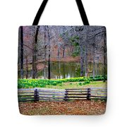 A Place Of Peace Among The Daffodils Tote Bag
