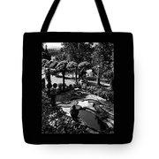 A Pond In An Ornamental Garden Tote Bag