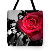 A Pop Of Red - Rose  Tote Bag