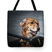 A Portrait Of A Golden Retriever Tote Bag