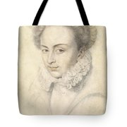 A Portrait Of A Young Woman In A Ruffled Collar Tote Bag