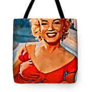 A Portrait Of Marilyn Tote Bag