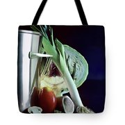A Pot With Assorted Vegetables Tote Bag