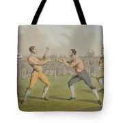 A Prize Fight Aquatinted By I Clark Tote Bag by Henry Thomas Alken