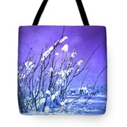 A Purple Winter Tote Bag