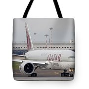 A Qatar Airways Cargo Boeing 777 Tote Bag