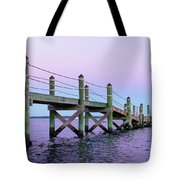 A Quiet Evening At Dusk With A Moonrise Tote Bag