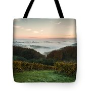 A Quiet Morning On The Hill Tote Bag by Davorin Mance
