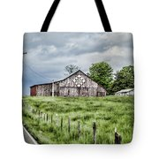A Quilted Barn Tote Bag
