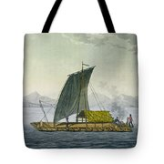 A Raft Leaving The Port Of Guayaquil Tote Bag