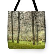 A Rainy Day At The Cemetery Tote Bag