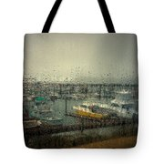 A Rainy Evening On The Port Tote Bag