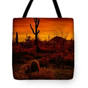 A Red Desert  Tote Bag