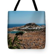 A Red Flower To Lindos Tote Bag