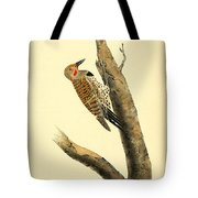 A Red Moustached Woodpecker Tote Bag by Philip Ralley