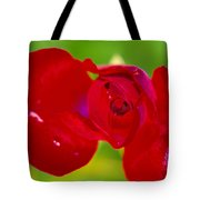 A Red Wet Rose Tote Bag