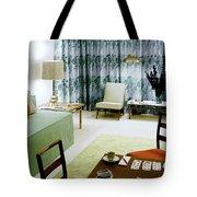 A Retro Bedroom Tote Bag