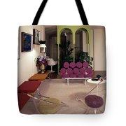 A Retro Living Room Tote Bag