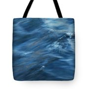 A River Flows Gently By Tote Bag