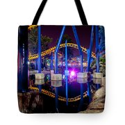A Rollercoaster At A Theme Park In Usa Tote Bag