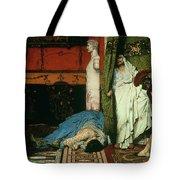 A Roman Emperor   Claudius Tote Bag by Sir Lawrence Alma Tadema