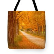 A Romantic Country Walk In The Fall Tote Bag