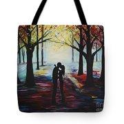 A Romantic Kiss Tote Bag