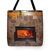 A Room With A Fireplace Tote Bag