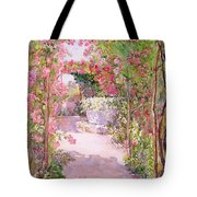 A Rose Arbor And Old Well, Venice Tote Bag