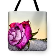A Rose In Winter Tote Bag