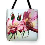 A Rose Is A Rose Tote Bag by Karin  Dawn Kelshall- Best