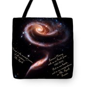 A Rose Made Of Galaxies For Spock Tote Bag