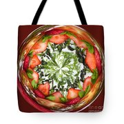 A Round Of Fresh Fruit Salad Tote Bag by Anne Gilbert