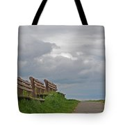 A Row Of Benches In Gloucester Ma Tote Bag