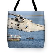 A Royal Navy Merlin Helicopter  Tote Bag