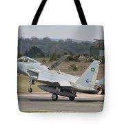 A Royal Saudi Air Force F-15c Landing Tote Bag
