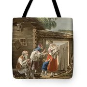 A Russian Peasant Family, 1823 Tote Bag