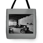 A Rustic Living Room Tote Bag
