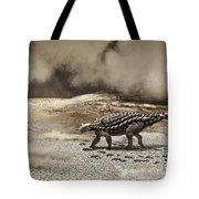 A Saichania Chulsanensis Dinosaur Tote Bag