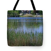 A Scenic View Of Round Pond  At The United States Military Academy Tote Bag