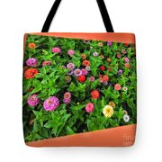 A Sea Of Zinnias 06 Tote Bag