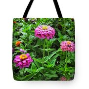 A Sea Of Zinnias 09 Tote Bag