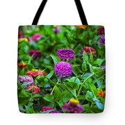 A Sea Of Zinnias 14 Tote Bag
