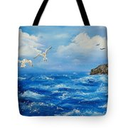 A Seagull's View George's Head Kilkee Co. Clare Tote Bag
